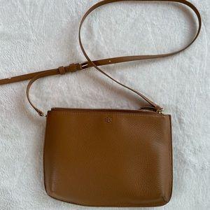 Tory Burch Brown Leather Crossbody